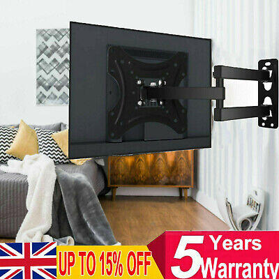 Swivel TV Wall Mount Bracket For 12 14 16 20 22 23 27 Inch Small LCD LED Monitor • 9.98£