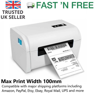 Shipping Label Thermal Printer High Quality 100x150mm 4x6 Inch Label USB UK Plug • 99.99£