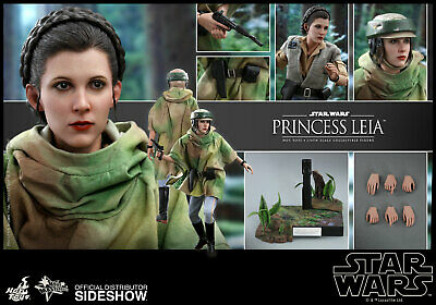 $250 • Buy New Hot Toys 12  Star Wars Princess Leia In Endor Gear 1/6 Scale Fig Rotj Fisher