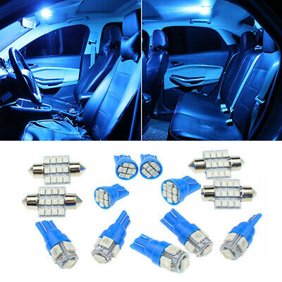 $7.99 • Buy 13Pcs LED Lights Interior Package Kit Ice Blue Dome Map License Plate Lamp Bulbs
