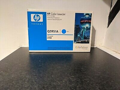 HP Genuine Q5951A Cyan Toner Cartridge 643A HP Laserjet 4700 Sealed Unused • 141.95£
