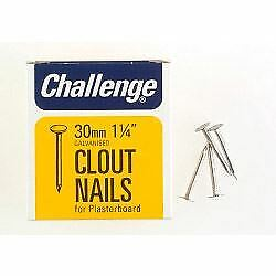 Clout - Plasterboard Nails - Galvanised (box Pack), 30mm, By Challenge • 3.23£