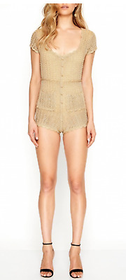 AU468 • Buy (New) ALICE McCALL Hot Like Fire Playsuit GOLD - Size 4