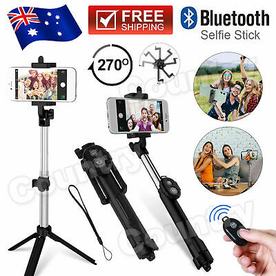 AU11.95 • Buy Unipod Selfie Stick Handheld Tripod Bluetooth Shutter For IPhone 11 Pro Samsung
