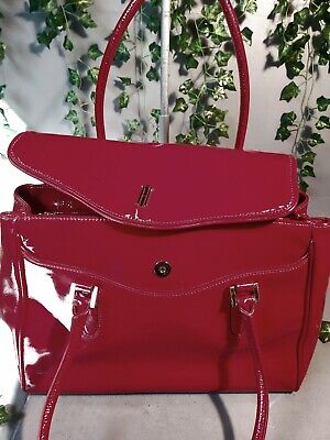 Hobbs Scarlett Red Patent Leather Tote Bag Handbag Excellent Condition  • 35£