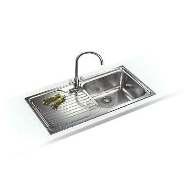 Franke Inset Kitchen Stainless Steel Sink 1 Bowl 1000 X 500mm Left-Hand Drainer • 123.49£