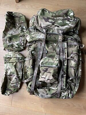 British Military Issue MTP Camo Bergen With Side Pouches • 59.99£