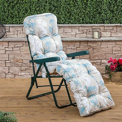 AU90.58 • Buy Sun Lounger Garden Recliner Chair Luxury Padded Cushion Outdoor Furniture Patio