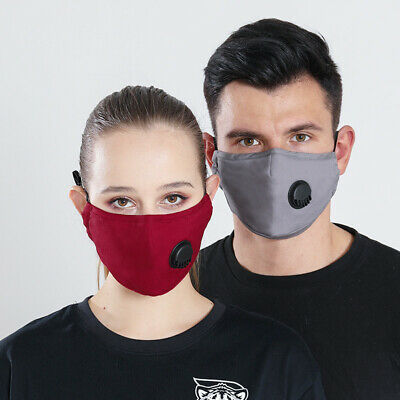 £3.29 • Buy Reusable & Washable Cotton Fabric Face Dust Mask With Respirator & PM2.5 Filter