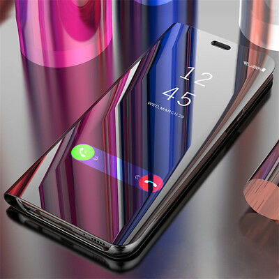 AU9.40 • Buy For OnePlus 8 7 Pro 6T 6 5T,Shockproof Clear View Mirror Flip Stand Case Cover
