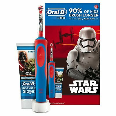 AU54.57 • Buy Oral-B Stages Power Kids Electric Toothbrush And Toothpaste Gift Set - Star Wars
