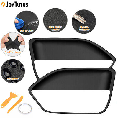 $15.99 • Buy Leather Door Panel Insert Cards Cover For Ford Mustang 2005-2009 Black 1 Set