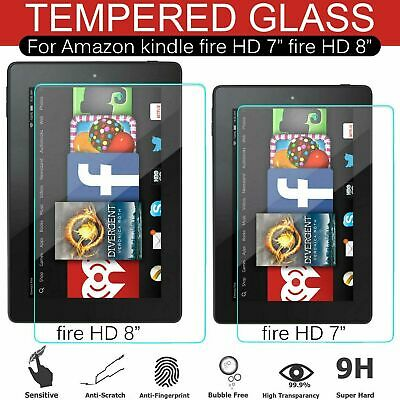 £3.29 • Buy Clear HD 7  Inch 8  Inch Tempered Glass Screen Protector For Amazon Kindle Fire