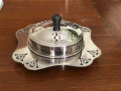 Beautiful Vintage EPNS Silver Plated Butter Or Caviar Serving Dish • 17.50£