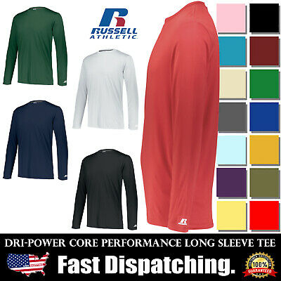 $12.91 • Buy Russell Dri-Power Core Performance Long Sleeves 100% Polyester T-Shirt 631X2M