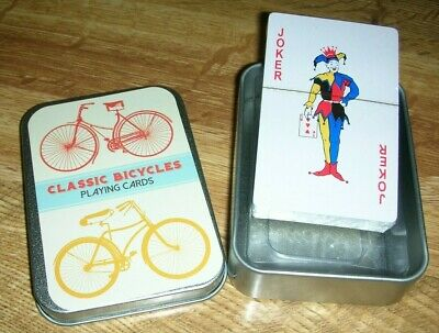 £4.55 • Buy Traditional Playing Cards In A Tin. Ideal Gift.  Classic Bicycles Design