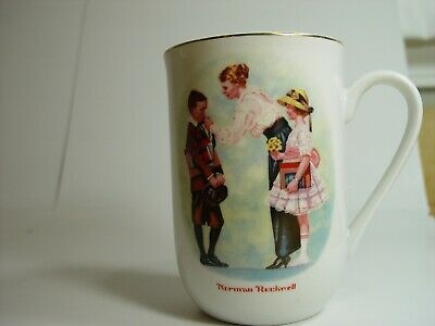 $ CDN12.72 • Buy Vintage 1986 Norman Rockwell  The First Day Of School  Coffee Cup Mug Pristine