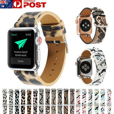AU17.99 • Buy For Apple Watch Band  IWatch Series 5 4 3 2 1 Leather Patterned Wristband Strap