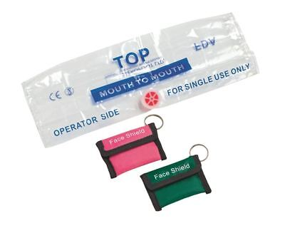 £2.95 • Buy Timesco Resus Face Shield With Valve In Keyring, Pink Pouch
