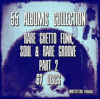 60's 70's GHETTO FUNK SOUL RARE GROOVE 55 ALBUMS COLLECTION 67 DISCS PT2# • 8.99£