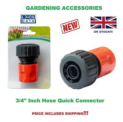3/4  Inch Garden Water Hose Pipe Quick Connector UK Seller • 3.20£
