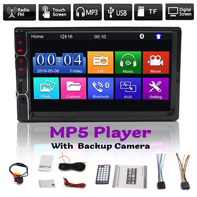 AU60.66 • Buy 7'' 2 Din MP5 Radio Player Double Car Stereo Head Unit Radio Touchscreen+Camera