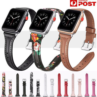 AU17.99 • Buy For Apple Watch Band Series6 5 4 3 2 Genuine Leather IWatch Strap Wristband Band