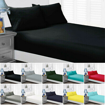 AU28.49 • Buy 1000TC Wrap Around Elastic Fitted Sheet Queen/King/Super King Size Pillowcases