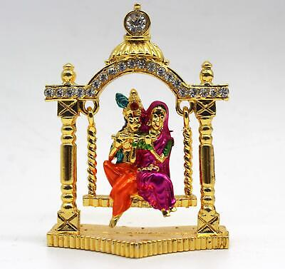Metal Show Piece Small Statue Idol For Car Dash Board Home Temple Gift Item • 4£