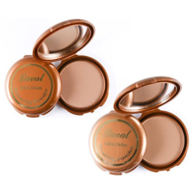 Laval Salon Deluxe Matte Bronzing Bronzer Face Powder Compact - Dark, Medium • 2.98£