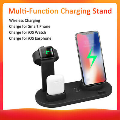 AU22.54 • Buy 3 In 1 Qi Wireless Charger Charging Dock Stand Station For IPhone Android