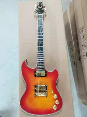 AU585.10 • Buy Custom Electric Guitar, Quilted Tobacco Sunburst Maple, Abalone Bound,6 String