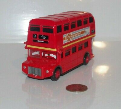 $ CDN19.11 • Buy Disney Pixar Cars 2 Double Decker London Bus Diecast 1:55 Scale EUC UK Crosshead