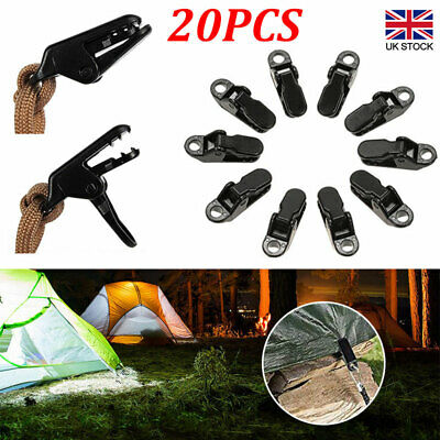 20x Tent Awning Canopy Clamp Alligator Clip Hook Camping Tent Tarp Clips Holder • 5.67£