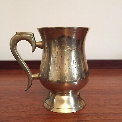 Vintage Traditional Indian Silver Plate And Brass Tankard • 5£