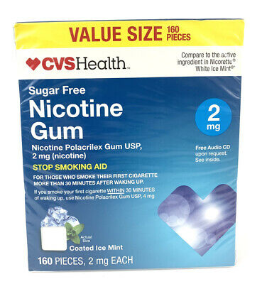 $ CDN39.83 • Buy Sugar-Free Nicotine Gum 2 Mg Coated Ice Mint  160 Pieces 2/21 Expire Date
