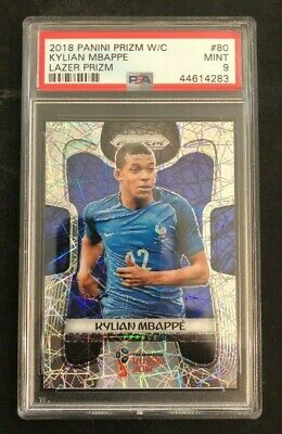 $ CDN1063.87 • Buy 2018 Panini Prizm World Cup Kylian Mbappe LAZER Rookie RC PSA 9!!