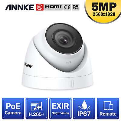 ANNKE Dome CCTV 5MP 2560*1920 PoE Camera IP67 For Home Security POE System Night • 49.99£