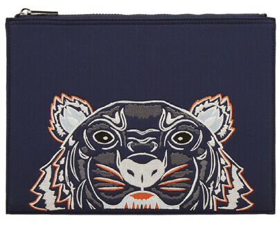 AU20.50 • Buy Kenzo Navy Blue Unisex Pouch Womens Wallet