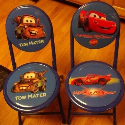 $12 • Buy Disney Pixar Car's Kids Toddler Chairs Lightning McQueen And Tow Mater