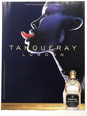 "Tanqueray Gin Print Ad Female Model W/backlit Tongue 2000 8x10-1/2"" MAX59 • 6.87£"