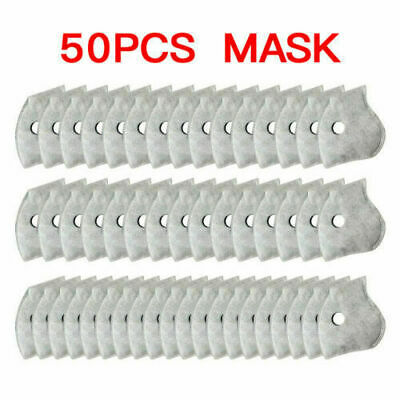 PM2.5 FILTER PADS X50 PC For Washable Reusable Sports Face Mask Activated Carbon • 5.96£