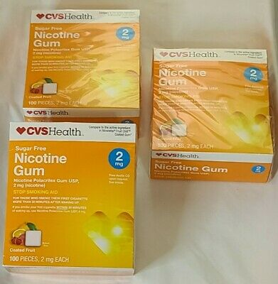 $ CDN53.13 • Buy CVS Health Nicotine Gum 100 Qty 2mg Coated Fuit Flavor Exp. 7/20, Lot Of 3 Boxes
