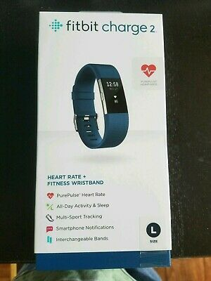 AU99 • Buy Fitbit Charge 2 Heart Rate Fitness Tracker Wristband Blue Large