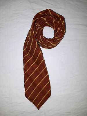AU15 • Buy Men's Kenzo Wool Silk Red And Yellow Striped Tie Made In Italy