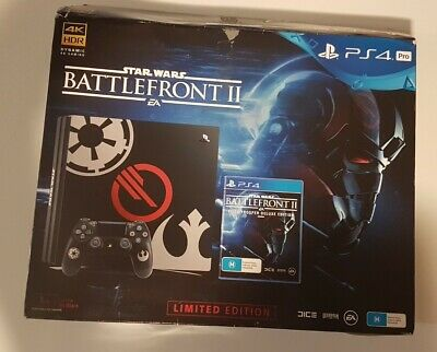 AU590 • Buy Playstation 4 PS4 Pro Star Wars Battlefront II Limited Edition   Free Postage