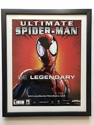 £25.23 • Buy Ultimate Spiderman Game PC PS2 Xbox Promo 2005 Framed Magazine Print Ad/Poster