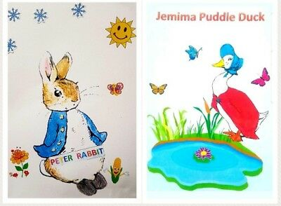 Vintage Toy Knitting Pattern.Beatrix Potter Peter Rabbit And Jemima Puddle Duck • 2.60£