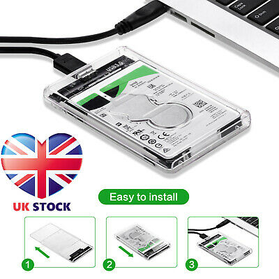 £5.69 • Buy SATA To USB 3.0 Hard Drive Case Enclosure For 2.5 Inch SSD / HDD External