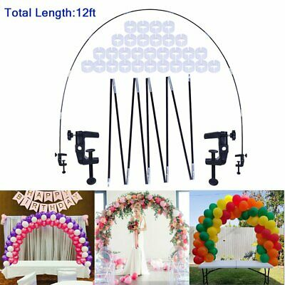$15.35 • Buy Balloon Arch Kit Fiber Column Stand Base Frame Set Birthday Wedding Party Decors